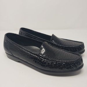 SAS Tripod Comfort Black Patent Leather Loafer 11